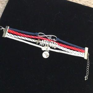 Jewelry - 🎈SALE🎈 NFL Leather Charm Bracelet - Patriots